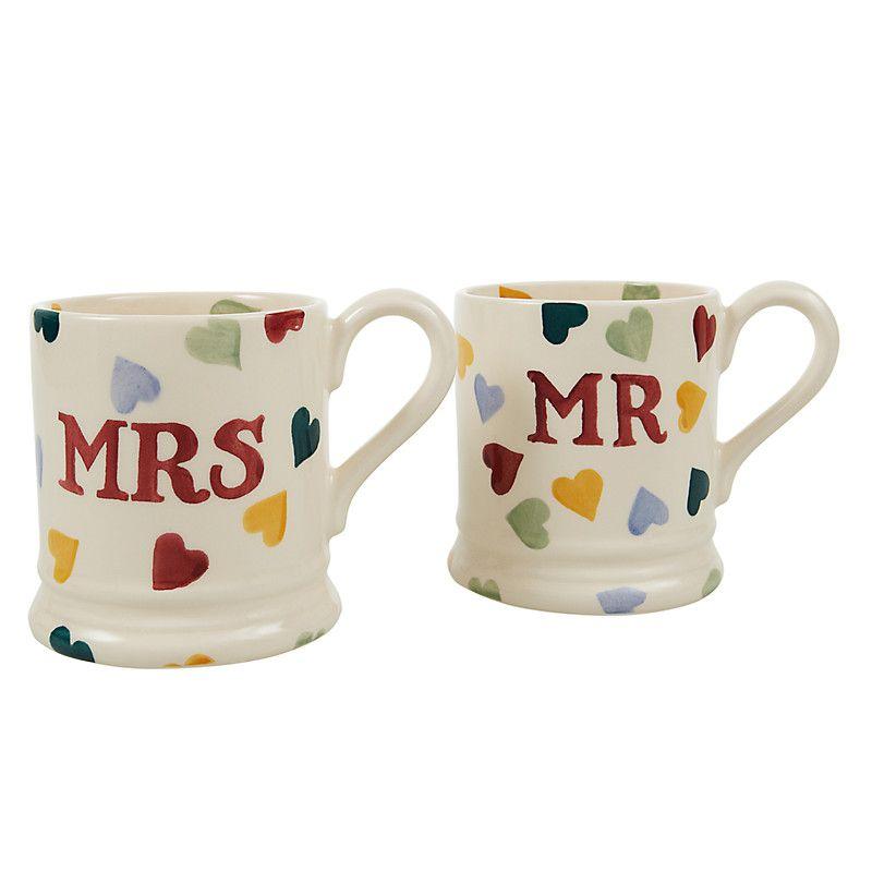 John Lewis Gift List Wedding: Emma Bridgewater, John Lewis Mugs, Mr Mrs Mugs