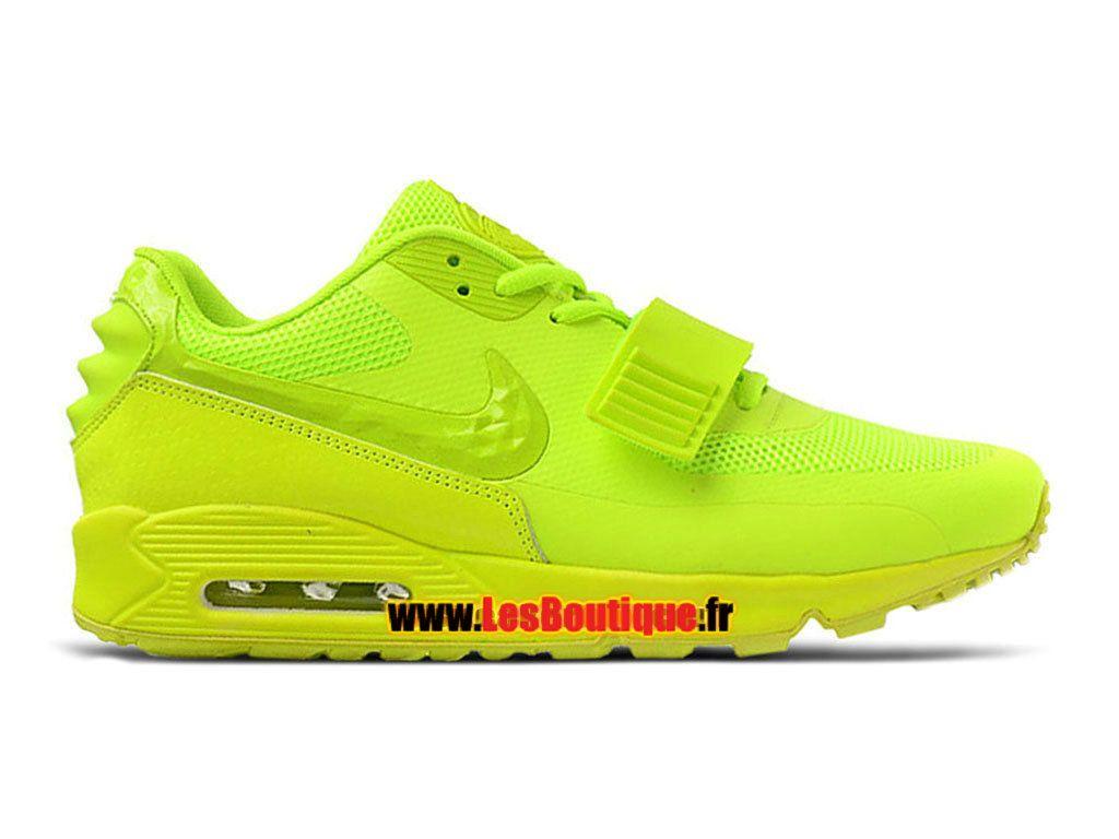 Nike Air Max 90 Yeezy 2 Design by Blkvis - Chaussure Nike Sportswear Pas Cher Pour Homme Vert Fluorescent/Volt 508214-700