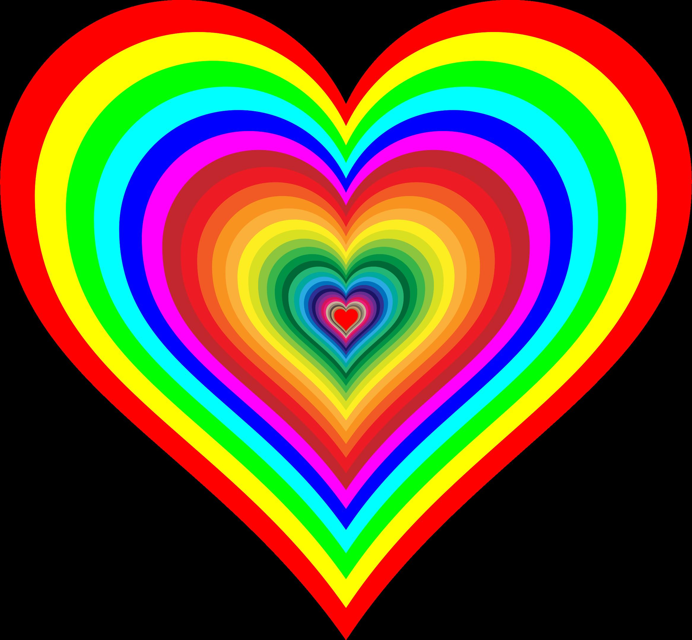 Rainbowrific Heart By Gdj Rainbow Heart Heart Doodle Colorful Heart