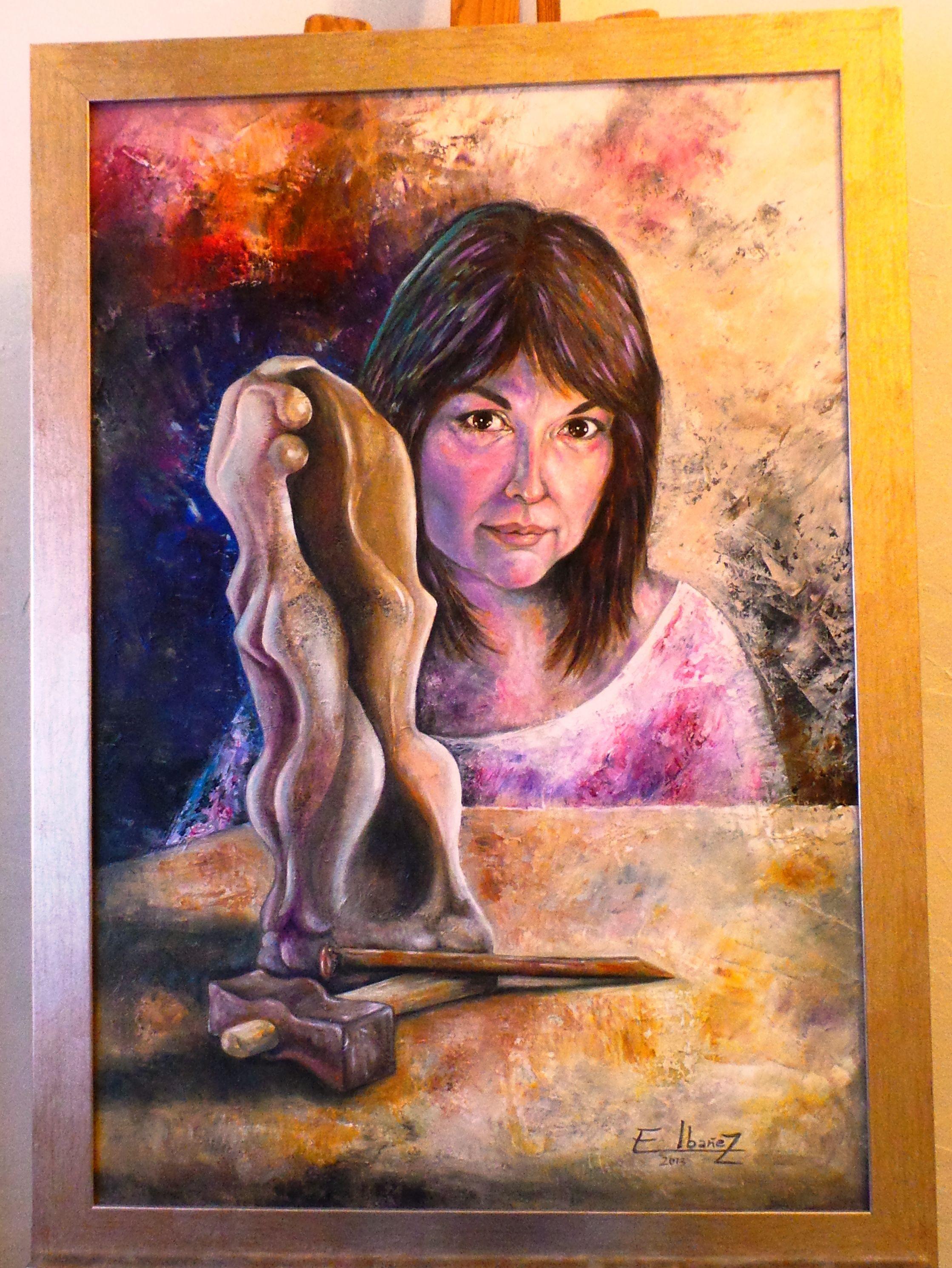 Obra con la que participé en la exposición colectiva del Autorretrato con la Asociación de Artistas Alicantinos