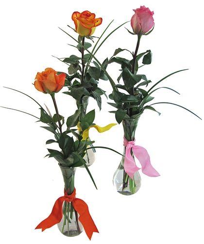 Single Rose Bud Vase 3 Pack Secretarys Week Pinterest Rose