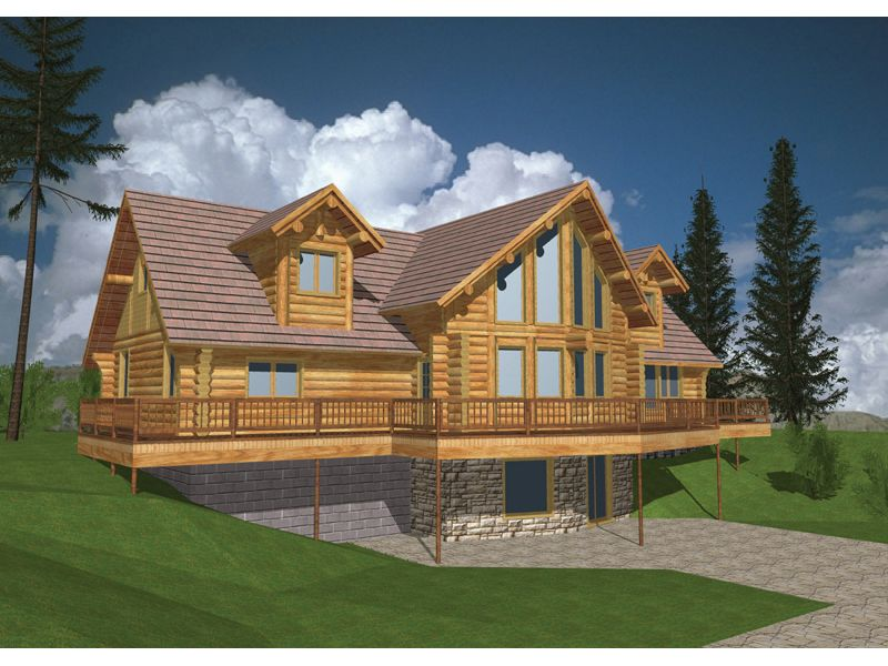 log cabin plan front of home 088d 0032 from houseplansandmore com
