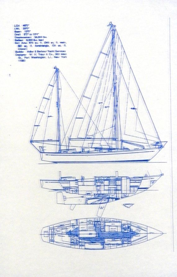 Sailboat hunter blueprint tattoo pinterest explore hunter sailboats wooden boat building and more malvernweather Choice Image