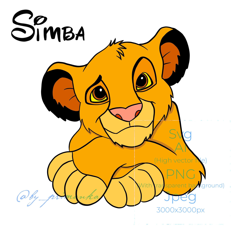 Svg Simba Lion King Cute Simba Svg Layered Free Coloring Etsy Cartoon Lion Simba Lion Lion King Theme