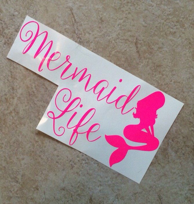 A Personal Favorite From My Etsy Shop Httpswwwetsycomlisting - Mermaid custom vinyl decals for car