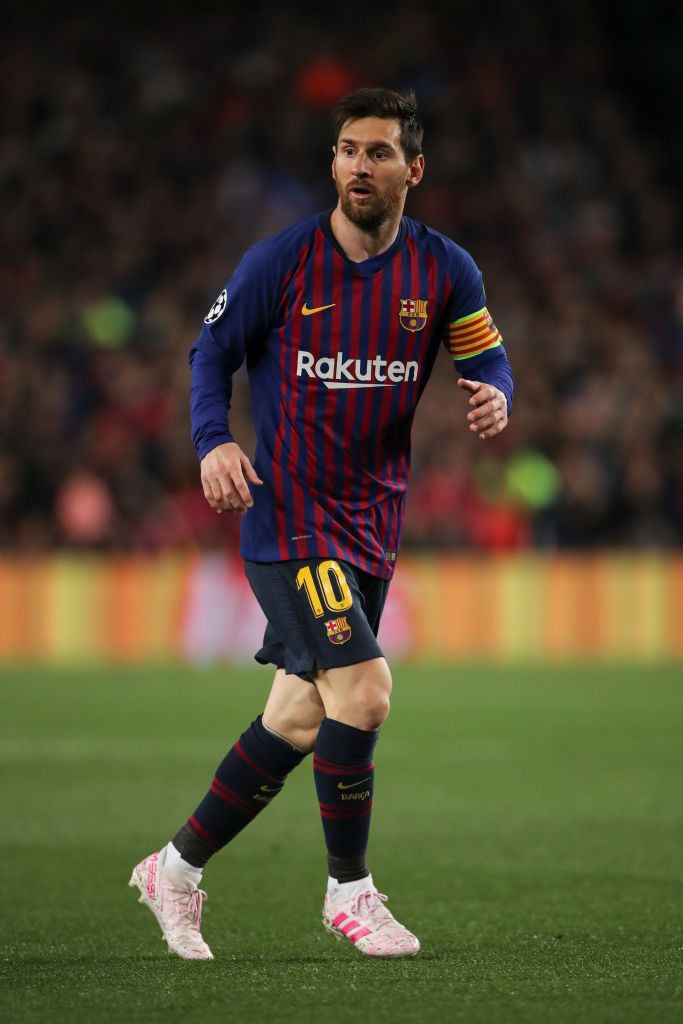 Get Great Manchester United Wallpapers 2019 BARCELONA, SPAIN - APRIL 16: Lionel Messi of FC Barcelona during the UEFA Champions League Quarter Final second leg match between FC Barcelona and Manchester United at Camp Nou on April 16, 2019 in Barcelona, Spain. (Photo by Matthew Ashton - AMA/Getty Images)