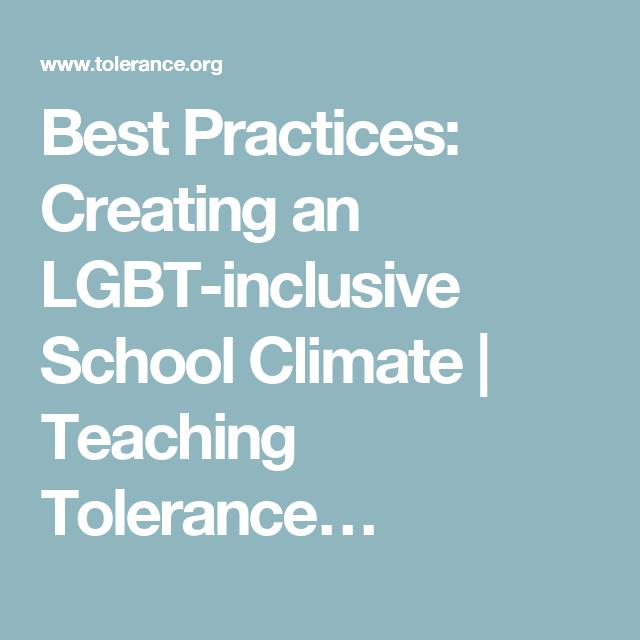 Teach tolerance gay and lesbian
