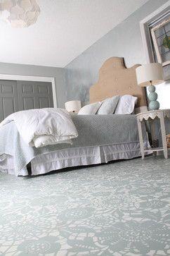 Painted Floor - traditional - Bedroom - Nashville - Bella Tucker Decorative Finishes