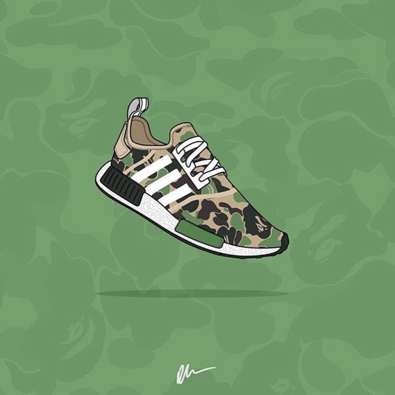 Pin By Earnhart Yohanes Surya On Nmd R1 Adidas Art Sneaker Art