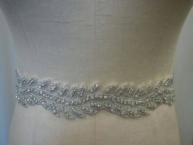 Wedding Belt, Bridal Belt, Sash Belt, Bridesmaid Belt - Crystal Rhinestone Belt - Style B144. $58.00, via Etsy.