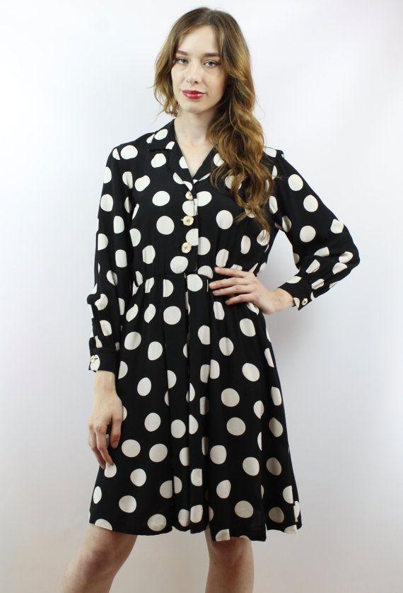 25++ Black and white polka dot dress ideas
