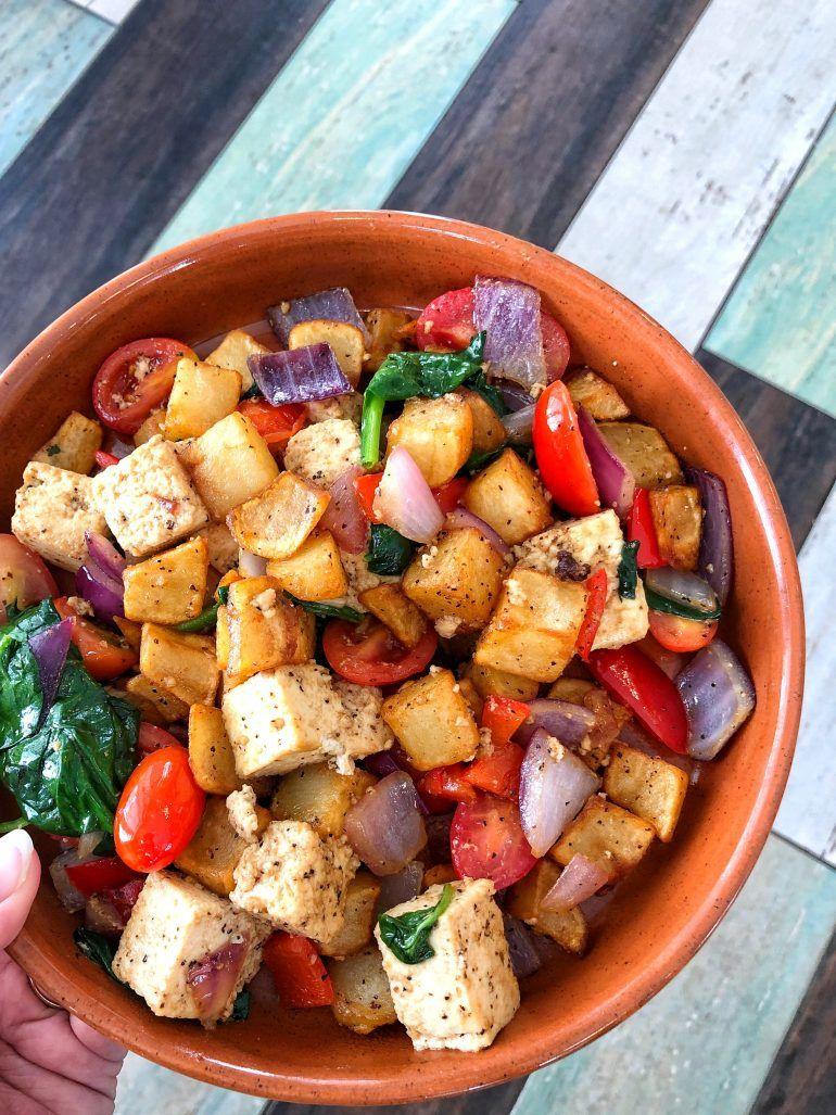 Vegan Tofu Hash In 2020 Vegan Brunch Vegan Disney World Brunch