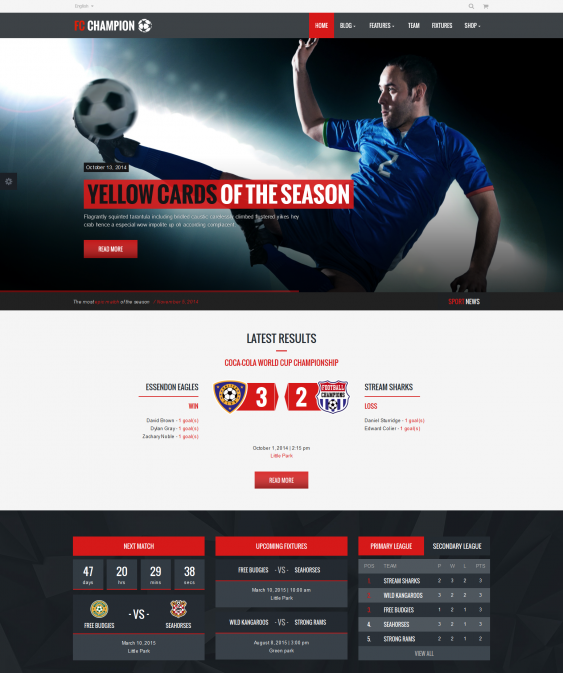 8 More Of The Best Wordpress Themes For Sports Websites Best Wordpress Themes Wordpress Theme Social Media Integration
