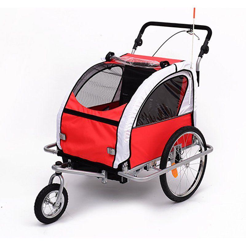 Aosom Elite II 3in1 Double Child Bike Trailer 5664