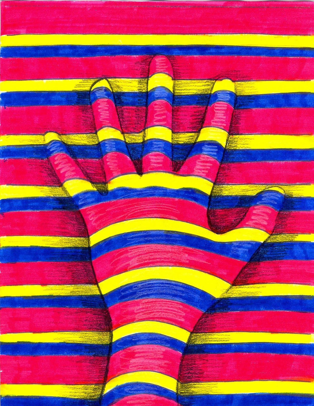 Op art uses color to create - The Lost Sock Art Elements Using Hands