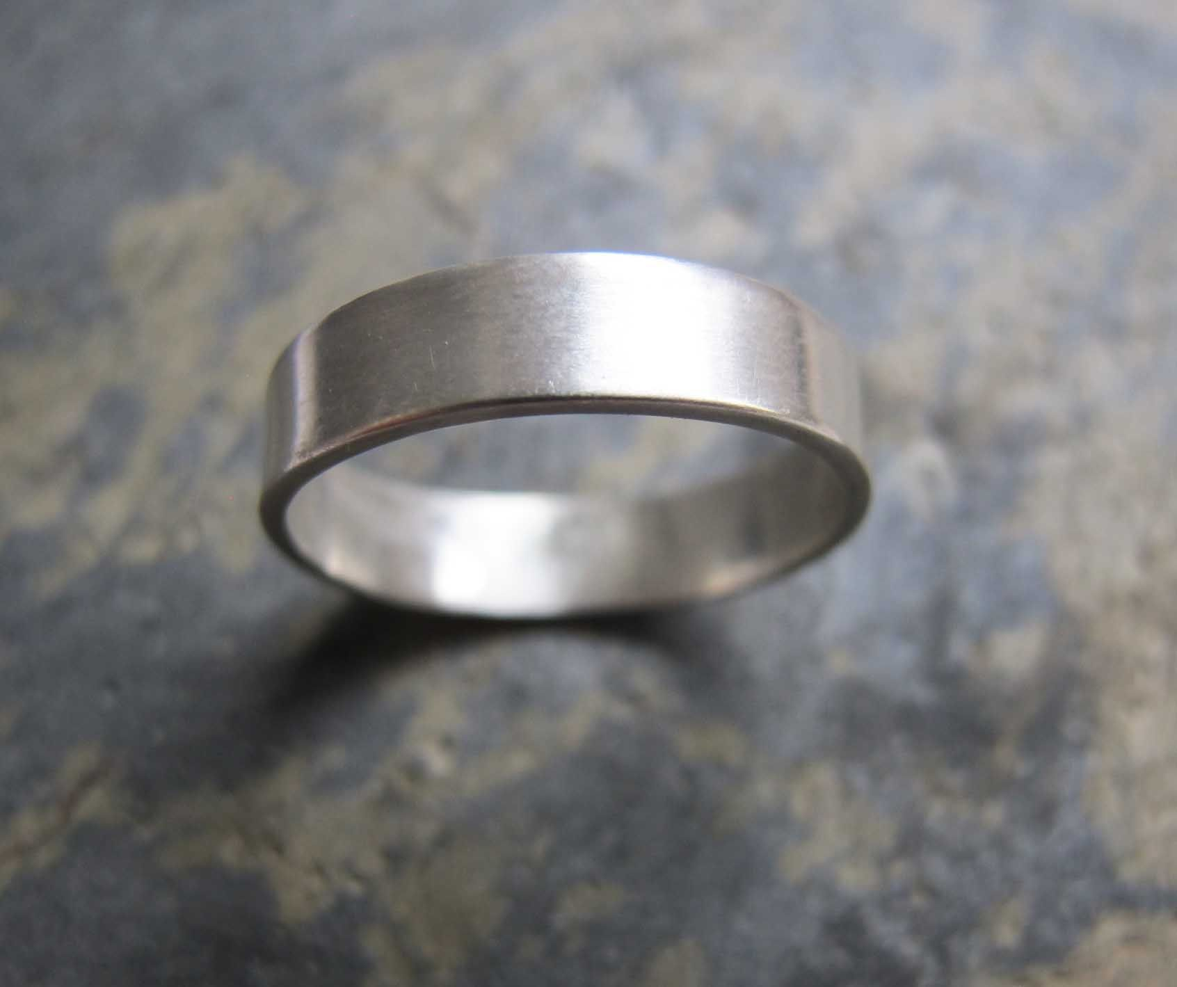 Men S Thick Wedding Band Ring Silver
