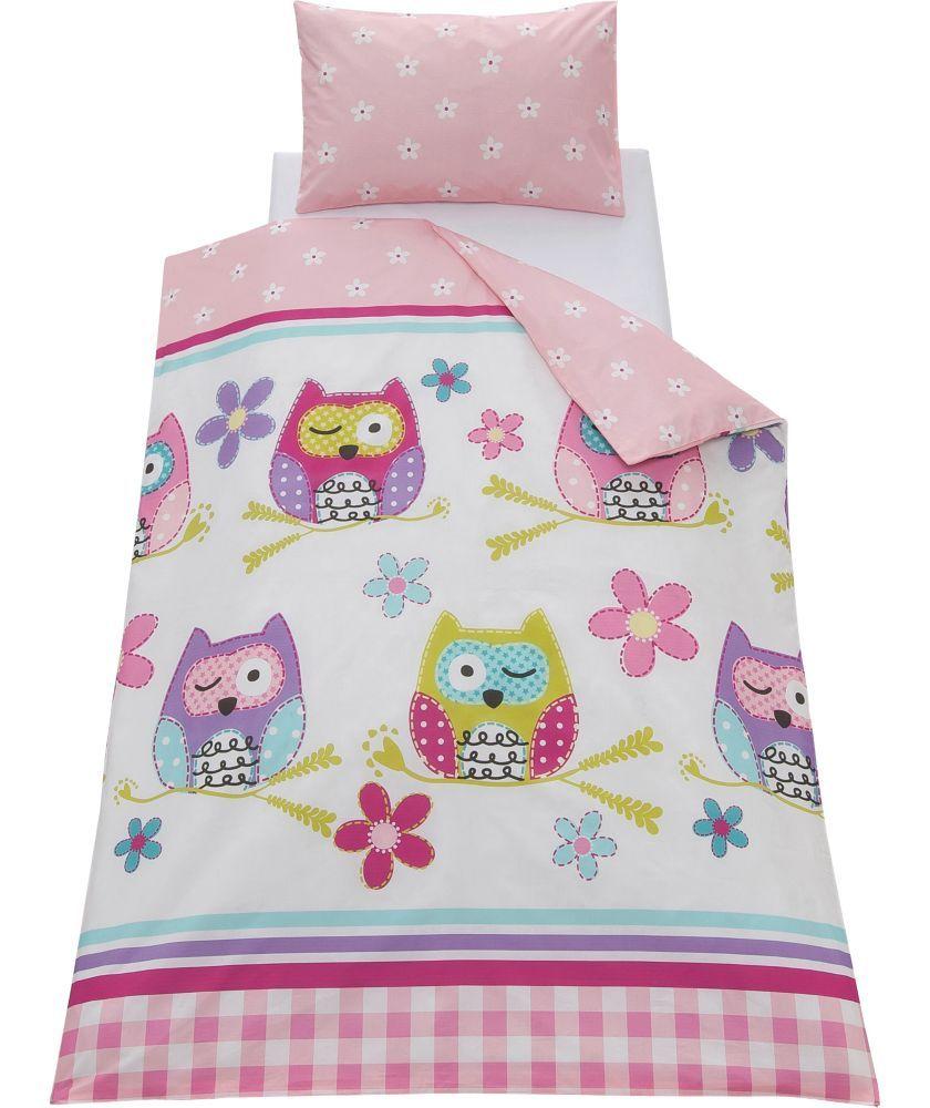 buy chad valley owl duvet cover set toddler at. Black Bedroom Furniture Sets. Home Design Ideas
