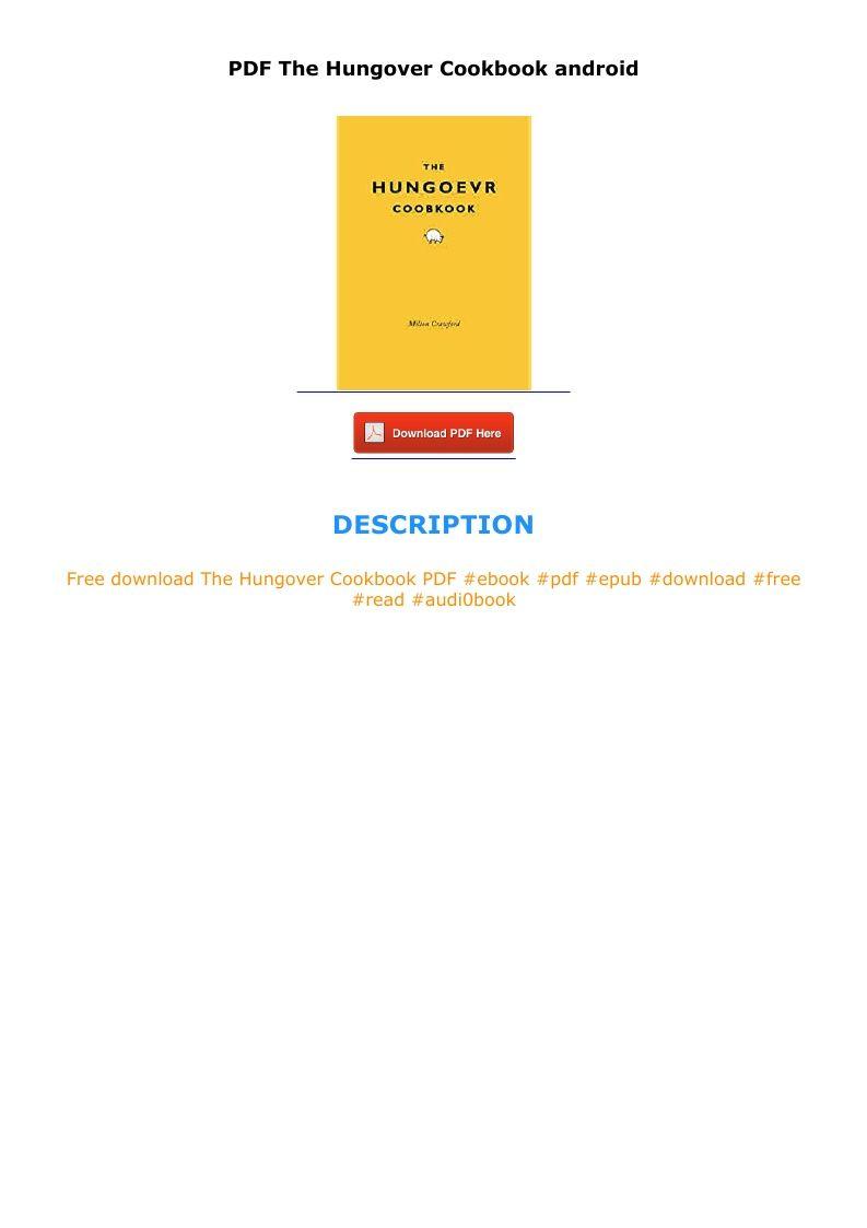 Pdf The Hungover Cookbook Android Audio Books Cookbook Pdf E Book