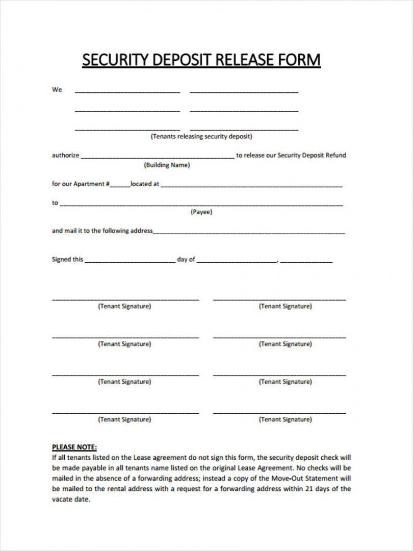 Get Our Example Of Rental Security Deposit Refund Form For Free Receipt Template Deposit Tenancy Agreement