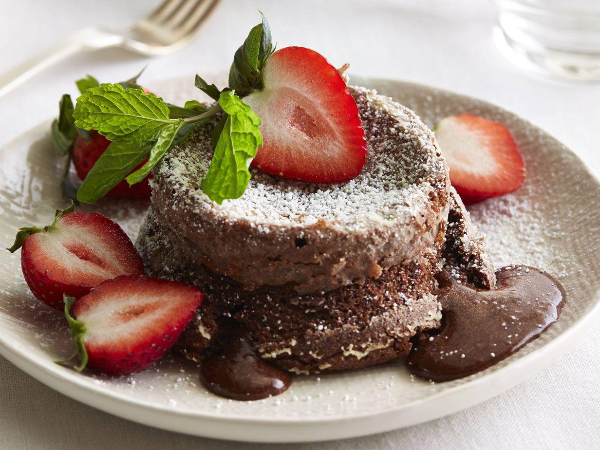 Warm Chocolate Cakes with Berries recipe from Giada De Laurentiis via Food Network