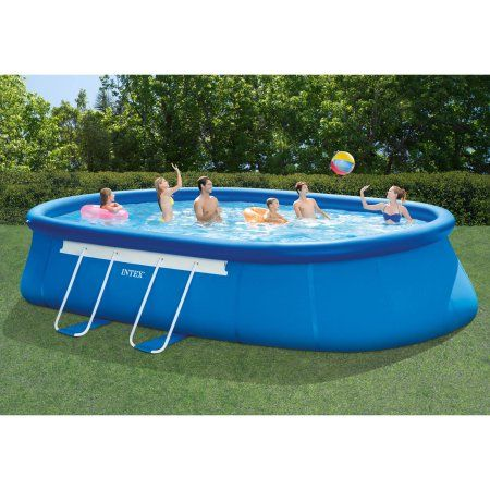 Intex 20 X 12 X 48 Oval Frame Swimming Pool Walmart Com Above Ground Swimming Pools Easy Set Pools Portable Pools