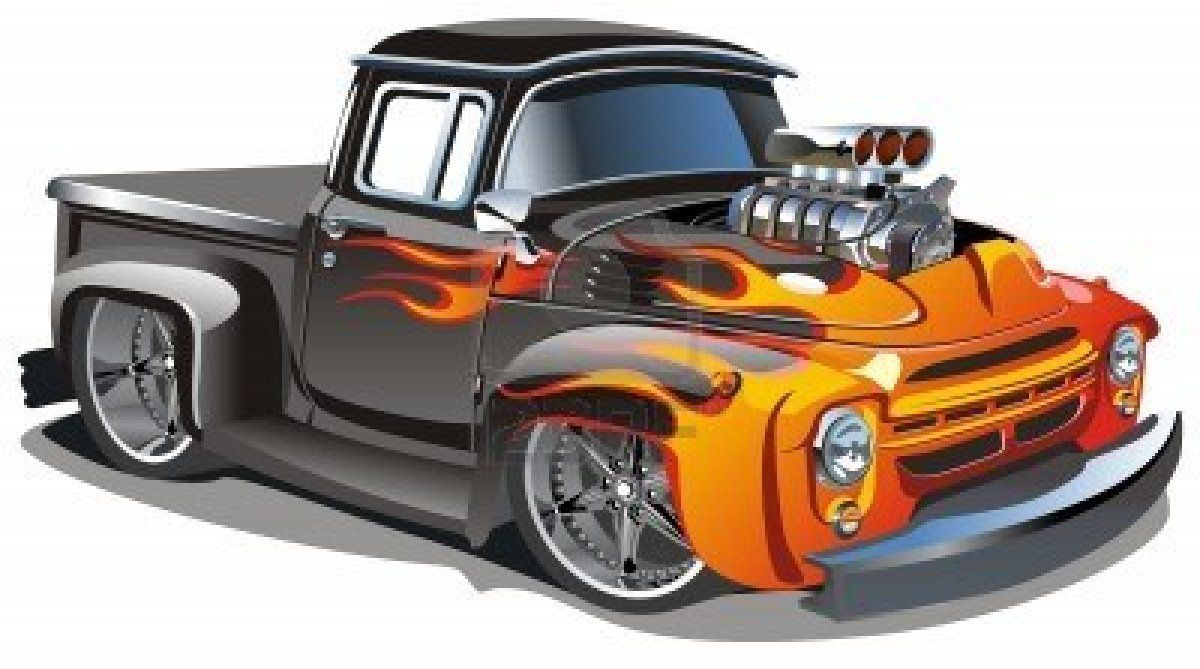 Stock Vector Car Cartoon Classic Trucks Truck Art