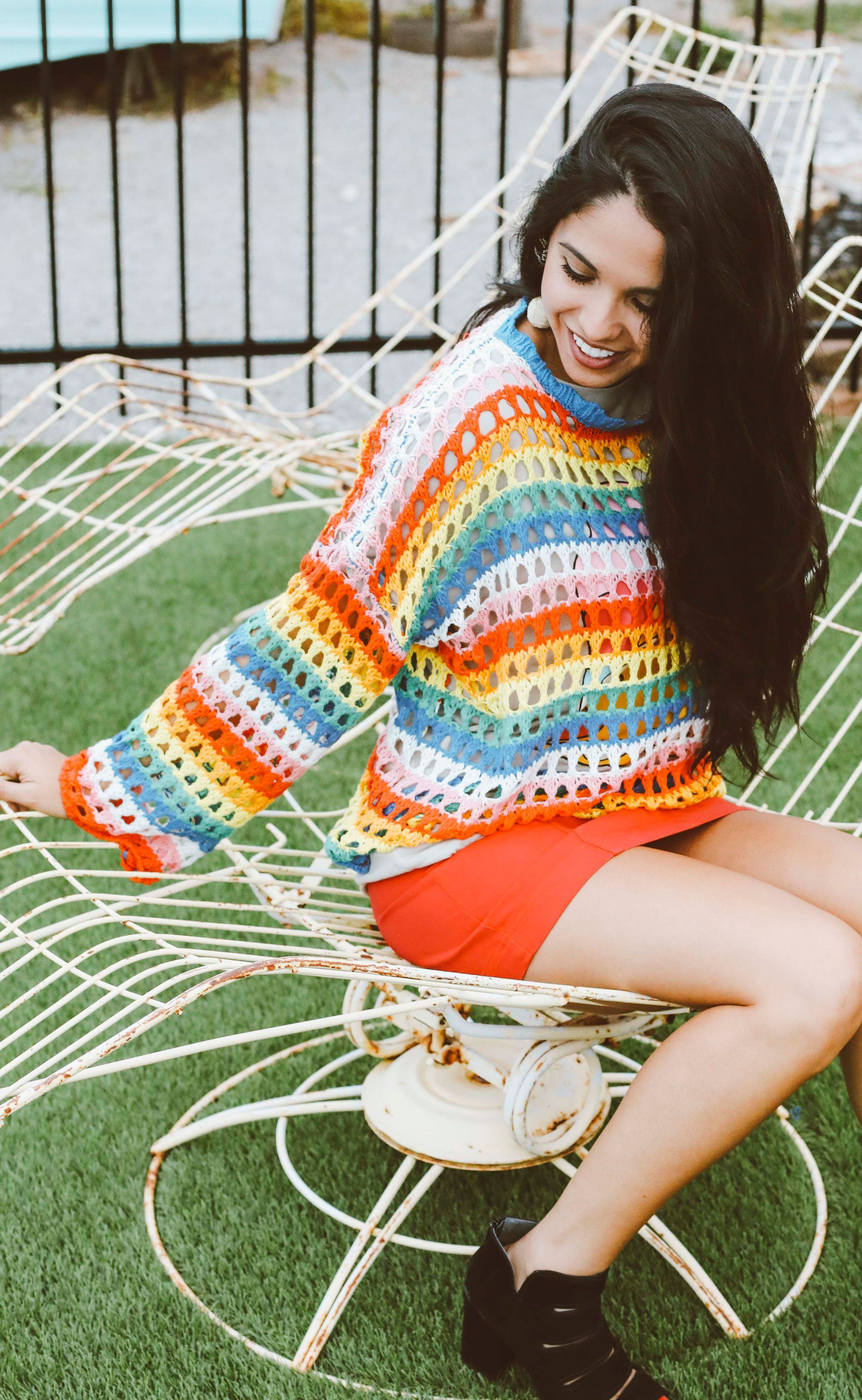 e8148da19b6f30 Groovy days knit sweater in 2018