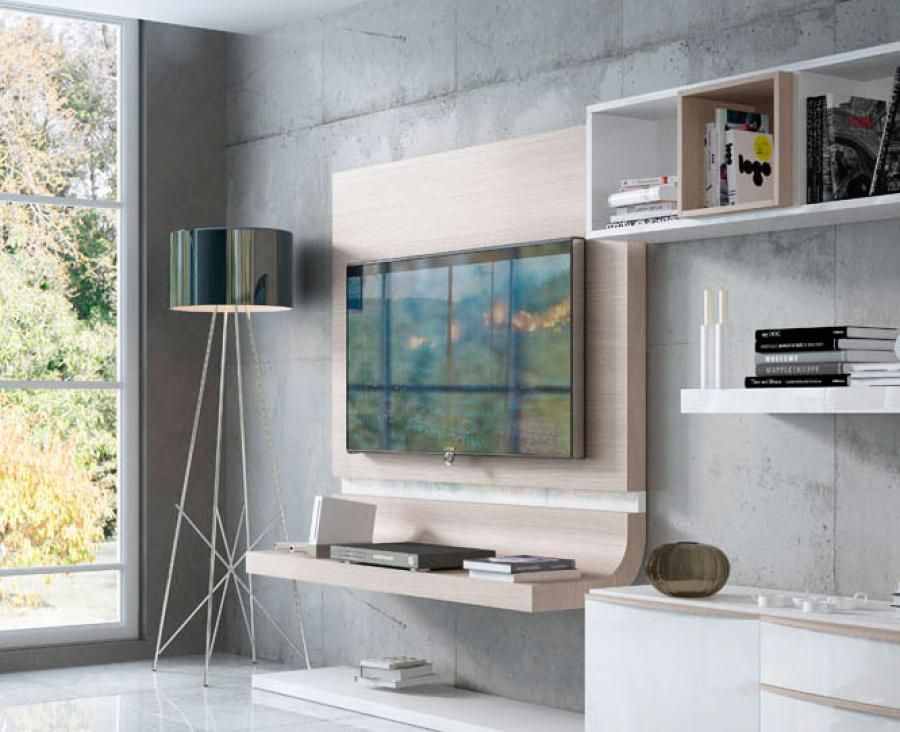 Fenicia modern curved tv unit in various colours with - Storage units living room furniture ...
