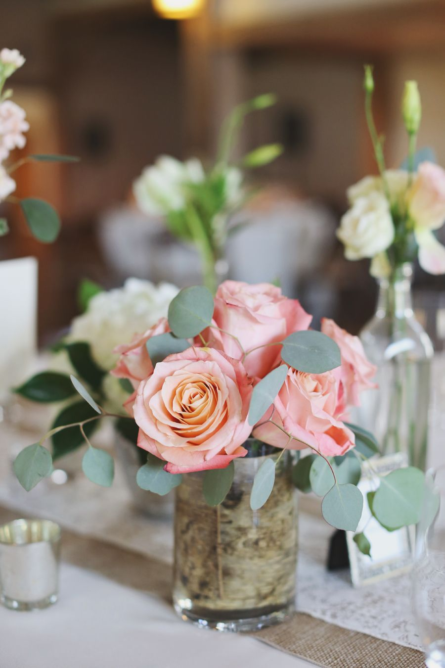Pink Rose Centerpiece Rose Centerpieces Pink Roses And Centrepieces