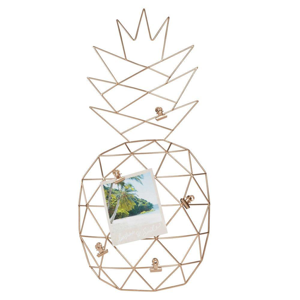 p le m le en m tal dor ananas maisons du monde pineapple ananas pinterest p le. Black Bedroom Furniture Sets. Home Design Ideas