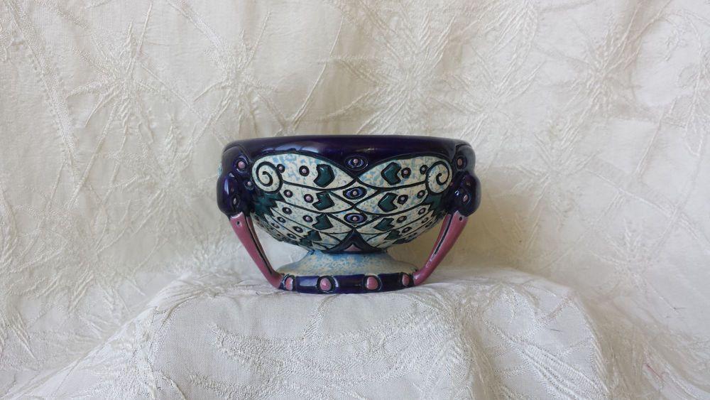 Amphora Art Deco Bowl Vase Czechoslovakia ca: 1920's Marked