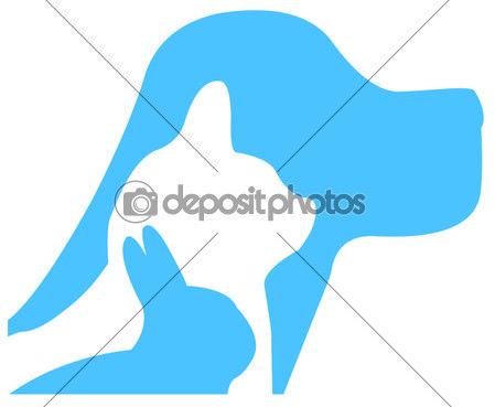 Dog, cat, rabbit logo vector