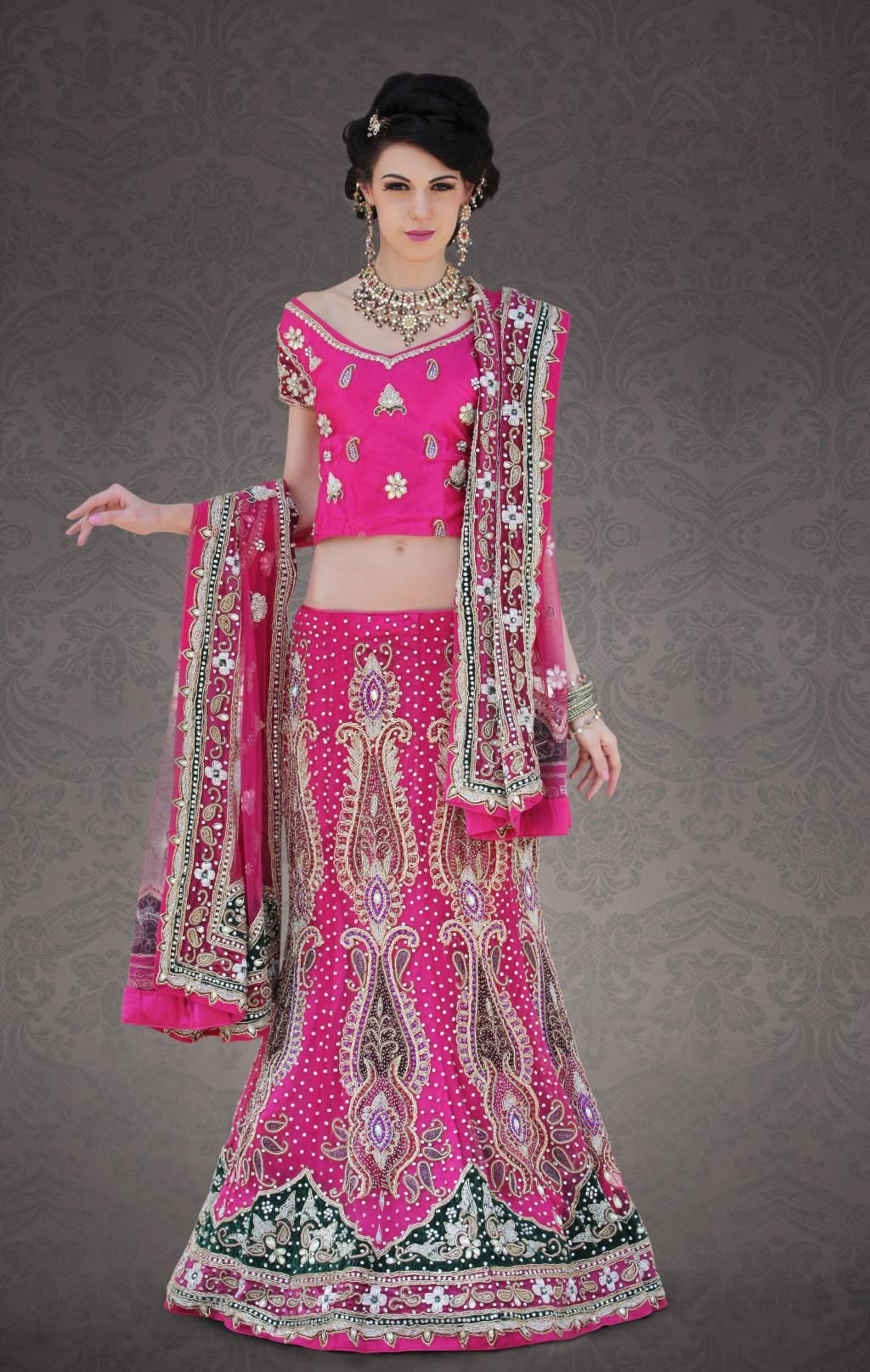Pink #Bridal Pink #Lehenga | Indian Bridal Dresses | Pinterest
