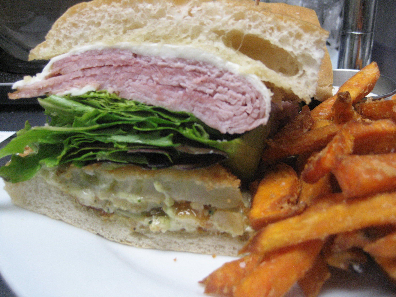 Fried Green Tomato & Ham Sandwich