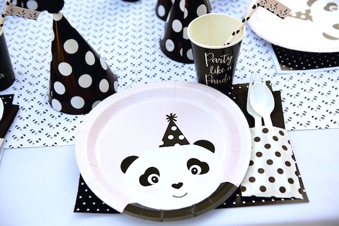 Personalized partyware from a chic Party Like a Panda Birthday ...