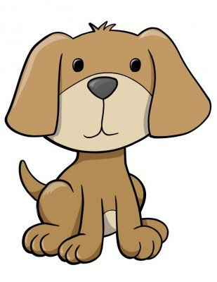 pictures of cute cartoon puppies clipart best silhouette cameo rh pinterest com clip art puppy paws clip art puppy paws