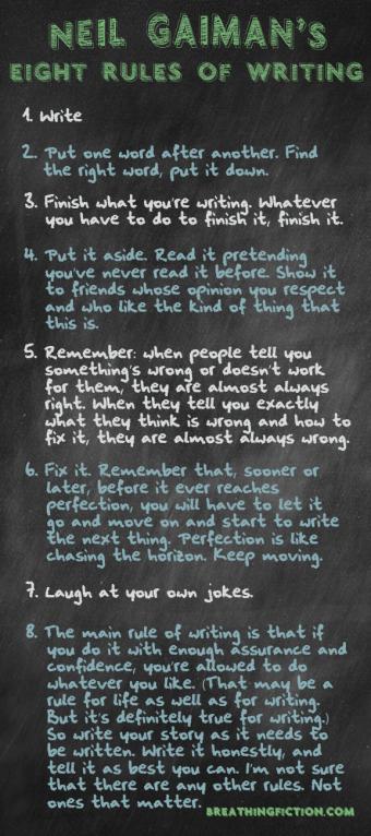Neil Gaiman: 8 Rules of Writing