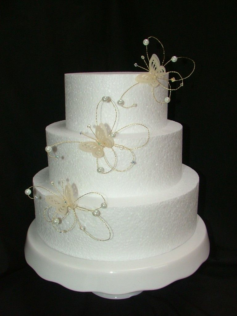 Ivory and Gold Butterfly Wedding Birthday Cake Decoration Topper ...