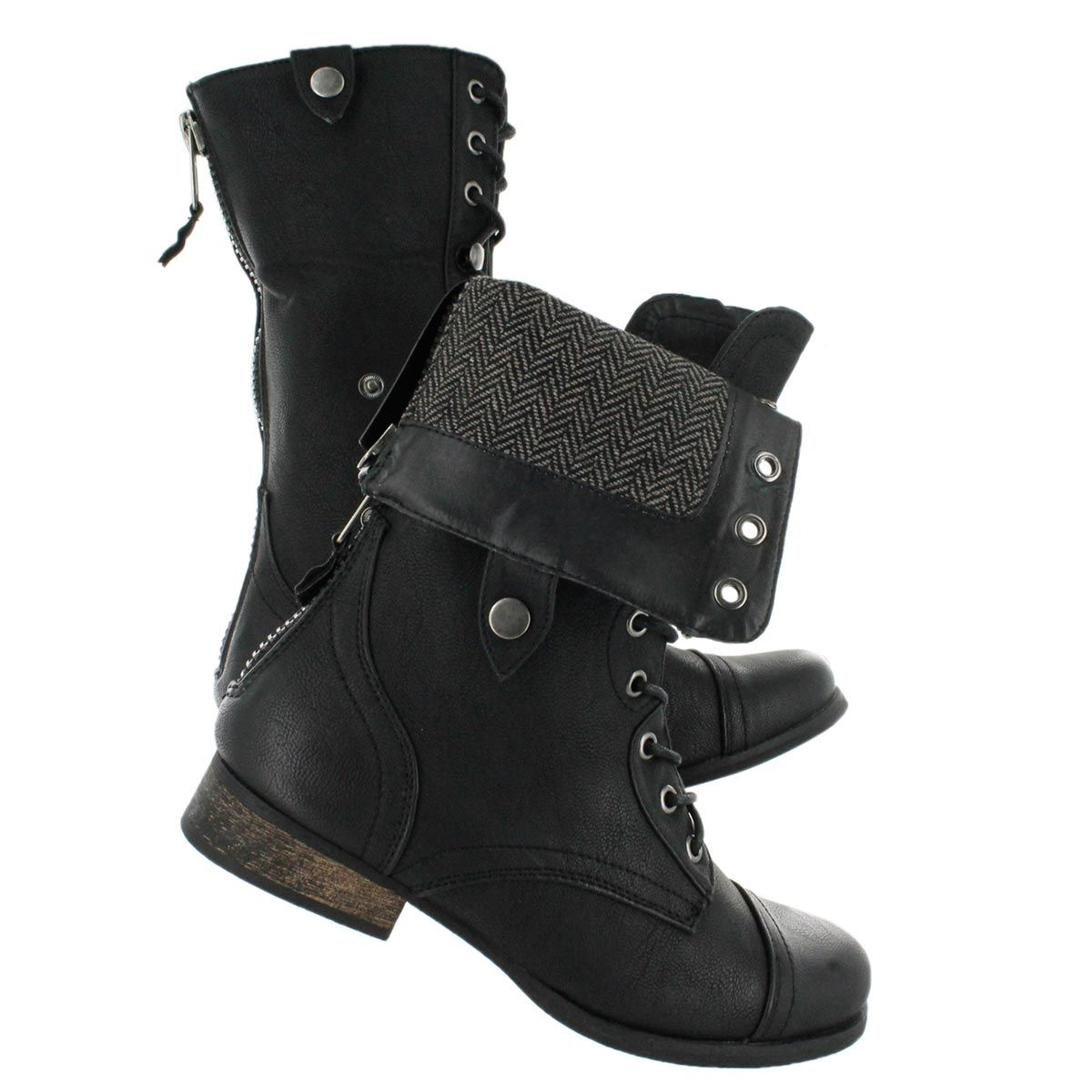 BIANCA 2 black fold over combat boots $109.99 | Shoes | Pinterest ...