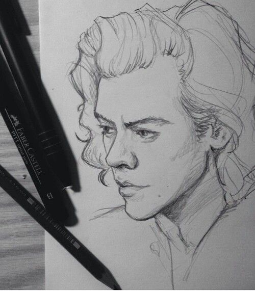 Pin By Mirelly Gonacalves On Carnet Rouge Harry Styles Drawing One Direction Drawings Itslopez