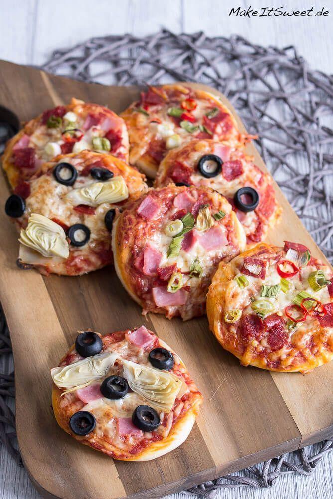 Mini Pizzen selber machen - MakeItSweet.de