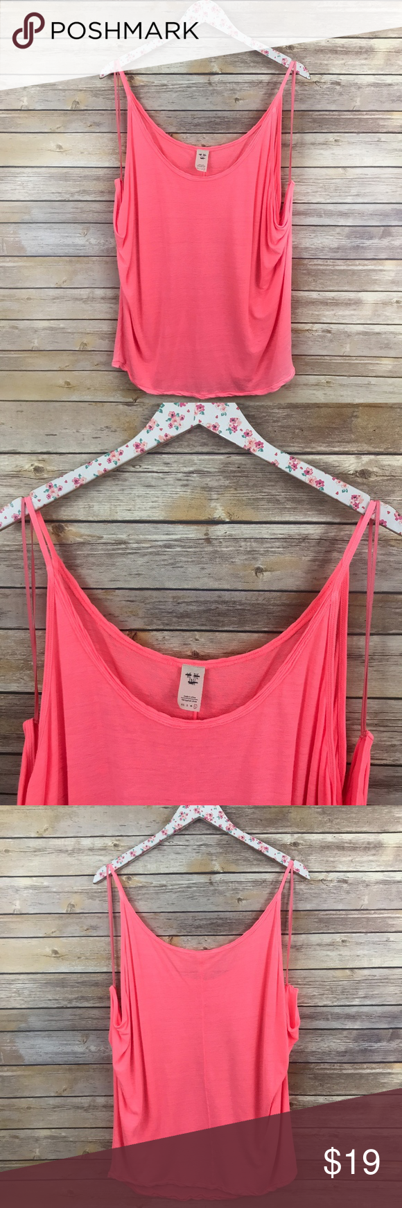 e1b39de4c4ce48 NWOT Free People Bright Pink Draped Tank Top BRAND NEW! New without tags Bright  Pink