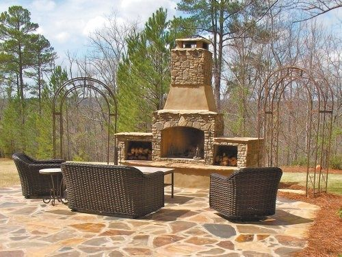 cottage outdoor living spaces | cottage to rock wall area / fire pit?