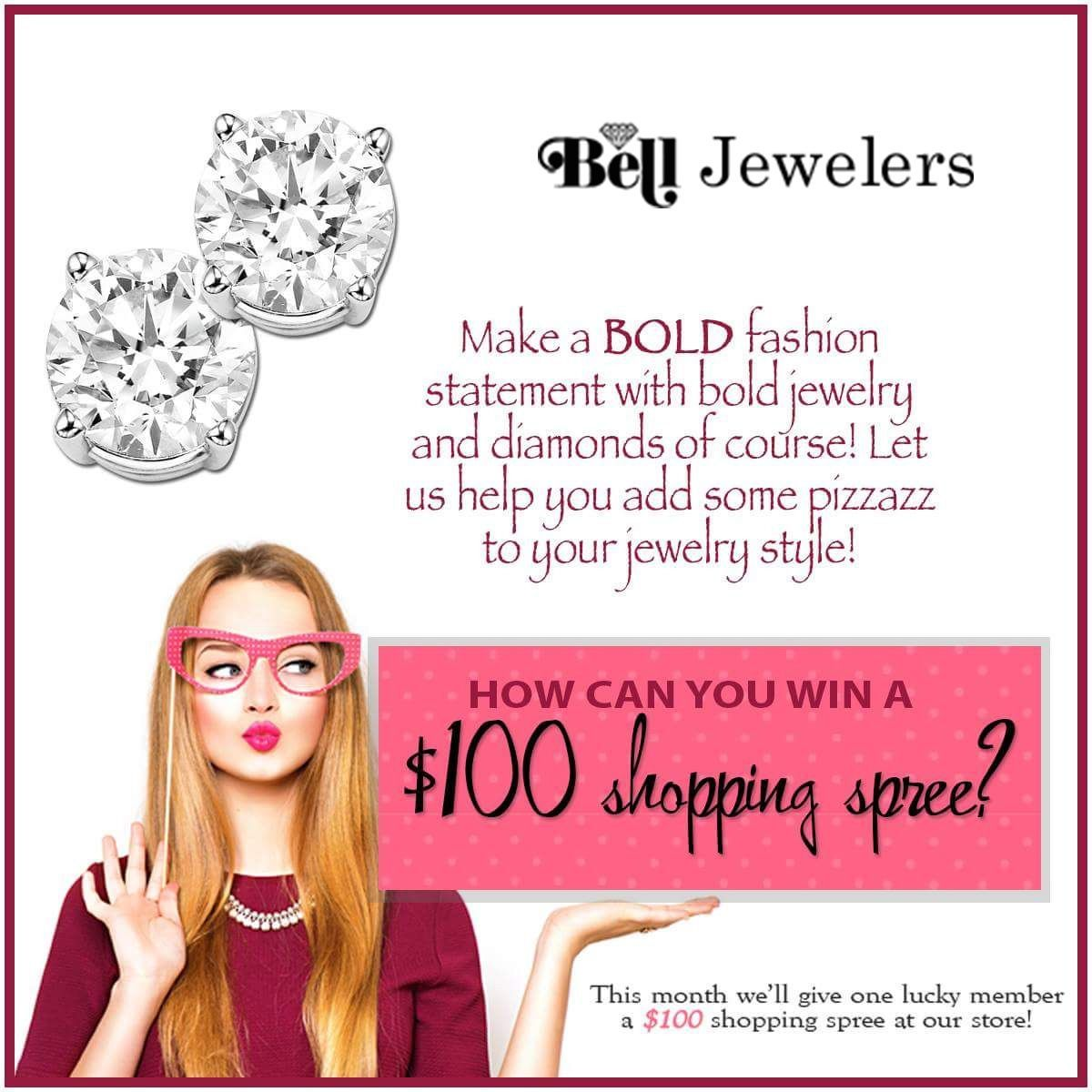 Be Bold, Be Brave, Be You!  Be Bold and SHARE for more chances to win a $100 shopping spree!  Click to share on our Super Fan page or to learn how to join! belljewelers.perksocial.com #SuperFan #Diamonds #Jewelry #BeBold #BoldStyle #Fun