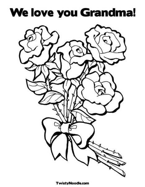 Customizable coloring pages for all occasions We love you Grandma ...
