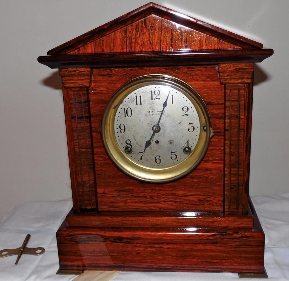 Seth thomas no 5 sonora chime adamantine mantel clock 4 bell antique clocks amipublicfo Image collections