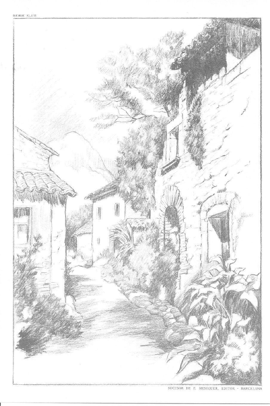 Dibujo Emilio Freixas Laminas Serie 41 Paisajes Iii Con