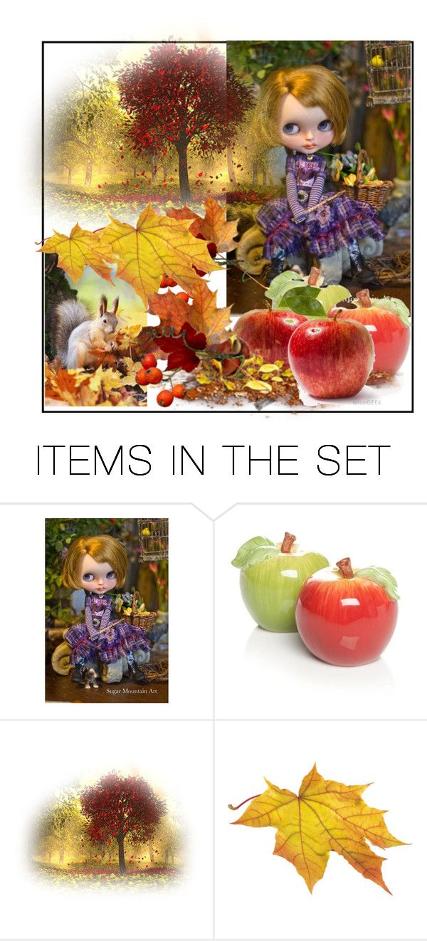 """Doll set for Fall"" by evachasioti ❤ liked on Polyvore featuring art"