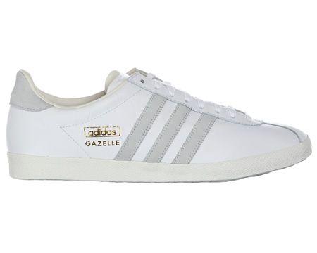 Adidas Gazelle OG White Leather Trainers | Adidas gazelle, Adidas ...