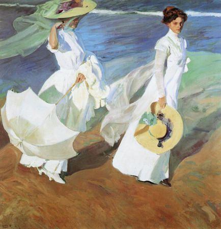 Women Walking On The Beach By Sorolla Master Piece Painting Joaquin Sorolla Art Painting Art Prints